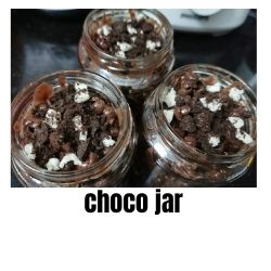 choco jar with your favourite toppings